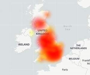 Gamma (DownDeterctor) Outage Heat map